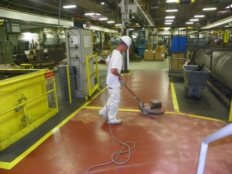 Epoxy Floor Sanding For Recoating Example